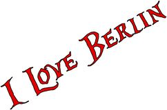 I Love Berlin text sign illustration royalty free stock photography