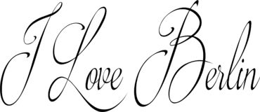 I Love Berlin text sign illustration royalty free stock images