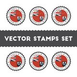 I Love Bermuda vector stamps set. Stock Image
