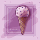 I love berry ice-cream! Stock Photography