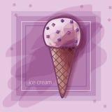 I Love Berry Ice-cream! Stock Photography