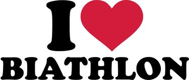 I love Biathlon. With heart Stock Photo