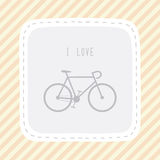 I love bicycle8 Stock Images