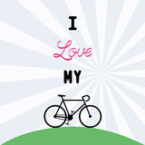 I love bicycle12 Royalty Free Stock Image