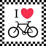 I love bicycle illustration Royalty Free Stock Images