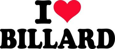 I Love Billard Stock Image