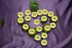I Love bitcoin gift for your second half. Royalty Free Stock Photography