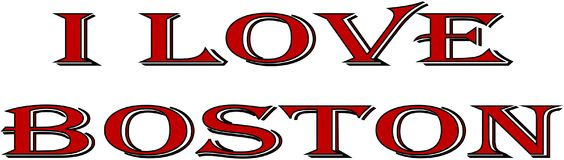 I love Boston text sign illustration Royalty Free Stock Image