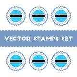 I Love Botswana vector stamps set. Royalty Free Stock Photography