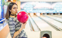 I Love Bowling Royalty Free Stock Images
