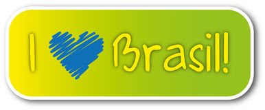 I love brasil sticker Stock Images