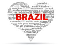 I Love Brazil stock illustration