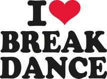 I love Breakdance. Dancing vector Royalty Free Stock Photos
