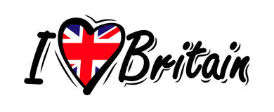 I Love Britain vector Stock Photography