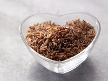 I love brown rice Royalty Free Stock Images