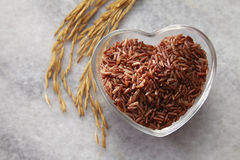 I love brown rice Stock Image