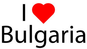 I love Bulgaria Stock Image