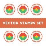 I Love Burkina Faso vector stamps set. Royalty Free Stock Photos
