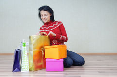 I love buy gifts Stock Photo
