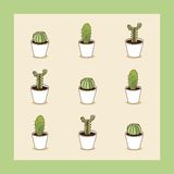 I love cacti seamless cactus illustration Royalty Free Stock Images