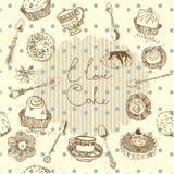 I love cake background Royalty Free Stock Image