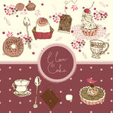 I love cake background Royalty Free Stock Photos