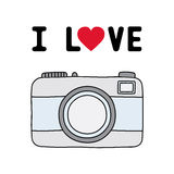 I love camera1 Royalty Free Stock Photography