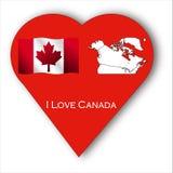 I Love Canada Stock Photography