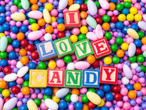 I Love Candy Royalty Free Stock Image
