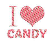 I love candy cane red and white pink colour Royalty Free Stock Image