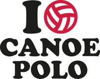I love canoe polo. Icon Royalty Free Stock Image