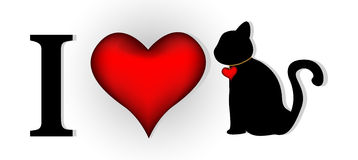 I love cat for you design Stock Photo