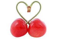 I love cherries Stock Photography