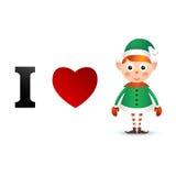 I love Christmas card Stock Image
