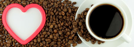 I love coffee. Coffee and coffee beans ,  I love coffee  concept Royalty Free Stock Image