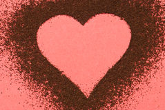 I love coffee. Heart made of black coffee Royalty Free Stock Photo