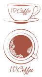 I love coffee. Vector eps vector illustration