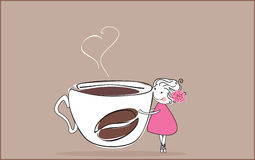 I love coffee royalty free illustration