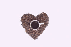 I Love Coffee  With Beans Royalty Free Stock Photo