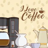 I love coffee concept Royalty Free Stock Photo
