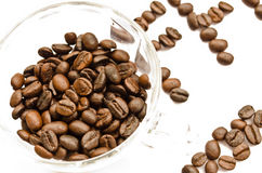 I love coffee. Concept using coffee bean isolated on white Stock Photos