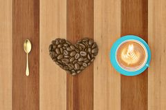 I love coffee.3D illustration. I love coffee. 3D illustration Stock Photography