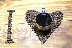 I love coffee ( espresso). royalty free stock image