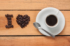 I love coffee. Food with background Stock Image