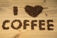 I love coffee! Royalty Free Stock Images