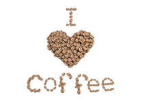 I love coffee isolated on white background Stock Images