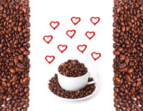I love coffee. Isolated on white background vector illustration