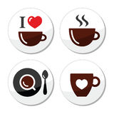 I love coffee labels set Stock Images