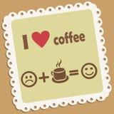 I love coffee. Retro vector icon Stock Images