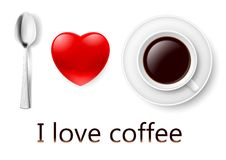 I love coffee. Stock Photography